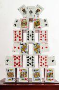 Карточный замок Card Castle - Bicycle Standart (красный) (пр-во Россия)