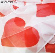 Шёлковый стример - Сердца - 15смх15м